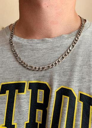 Мужская цепь из нержавеющей стали, цепь стальная модная широкая