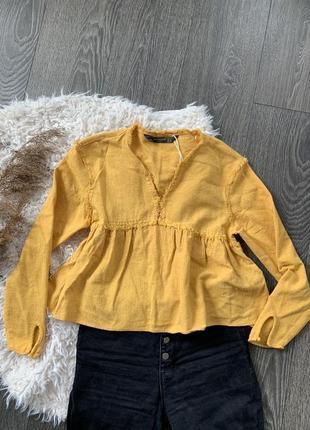 Блуза желтая zara