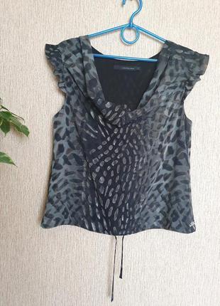 Красивая, легкая блуза, блузка в трендовый принт от calvin klein jeans , оригинал