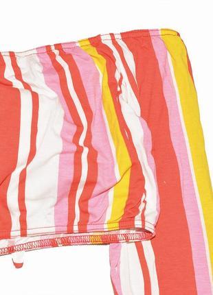 Укороченный полосатый яркий топ с открытыми плечами boohoo4 фото