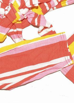 Укороченный полосатый яркий топ с открытыми плечами boohoo7 фото