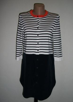 Красивая кофта блуза туника cos,низ 100 % шёлк, верх хлопок, размер xs,s