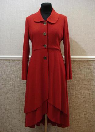 Дизайнерское изысканное шерстяное осенне - весеннее пальто
