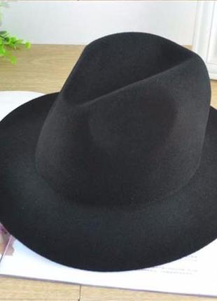 Широкополая шляпа с широкими полями женская шляпка федора джаз винтаж