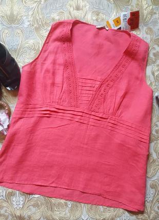 Яркая блуза. на бирке- 24 р-р(58)