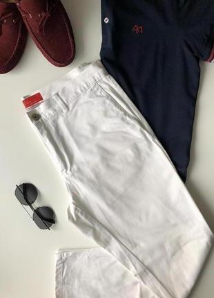 Мужские белые брюки zara