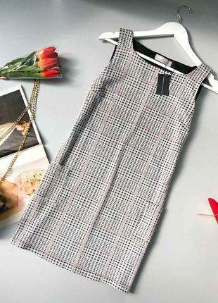 Мягкое стильное платье миди в клетку с карманами dorothy perkins
