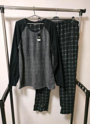 Флисовая пижама домашний костюм xxl