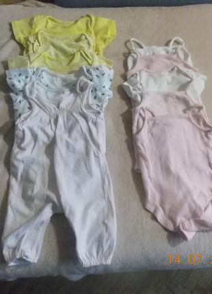 Комплект білизни для дівчинки,3-6 місяців. чудова якість.
