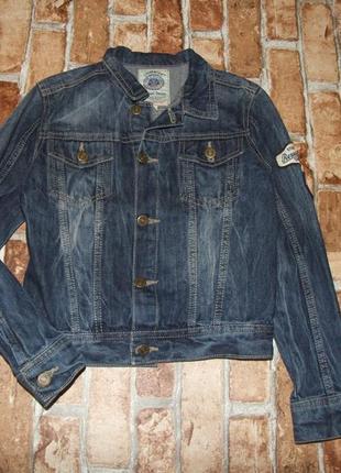 Куртка джинсовый пиджак мальчику 9 лет