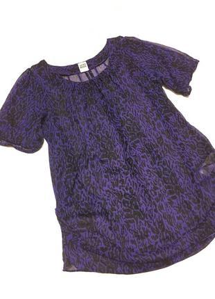 Легкая шифоновая блуза-футболка