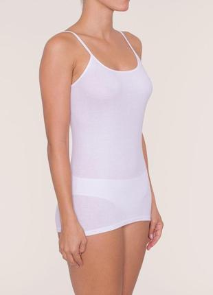 Коттоновая маечка белая triumph katia, домашняя одежда