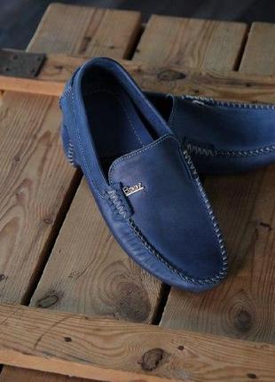 Натуральные мужские туфли, мужские туфли, синие туфли, модные туфли, кожаные туфли