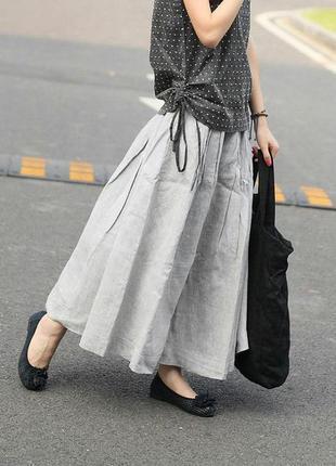 Невероятный лён! натуральный лен,макси длинная юбка в пол, лляная льна, бохо, этно стиль