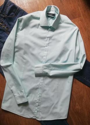 Базовая прямая рубашка в мятную полоску, сорочка, блузка, оверсайз, бойфренд