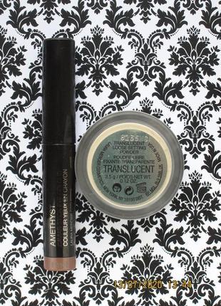 Набор laura mercier пудра и тени для век в стике caviar stick eyeshadow amethyst