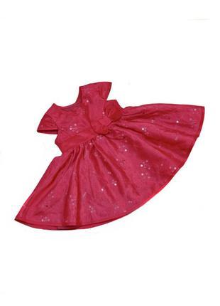 Детское нарядное малиновое платье  f&f. код 1077.