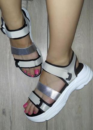Спортивные босоножки 🌿 платформа сандали босоніжки резинка