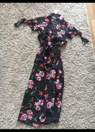 Плаття платье в пол длинное в цвети цветочний принт