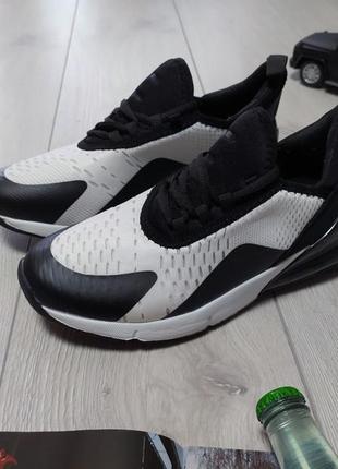 Мужские кроссовки черно-белые