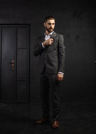 Мужской костюм giotelli 100429817-9  серый