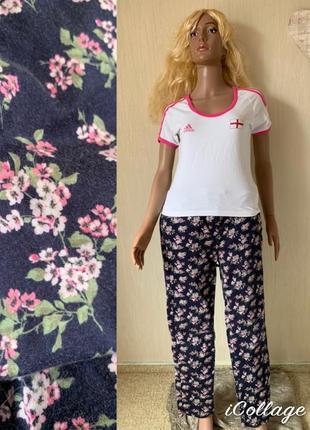 Только до 14.07 цветочные хлопковые брюки laura ashley оригинал