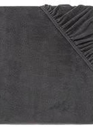 Простынь наматрасник серый на резинке meradiso