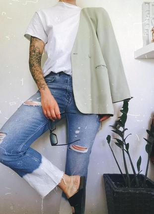 Нереально крутые джинсы прямого кроя zara