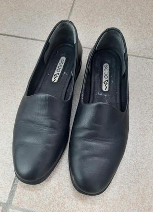 Фирменые кожаные балетки ботинки