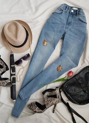 Шикарні джинси скіні на високій посадці від h&m