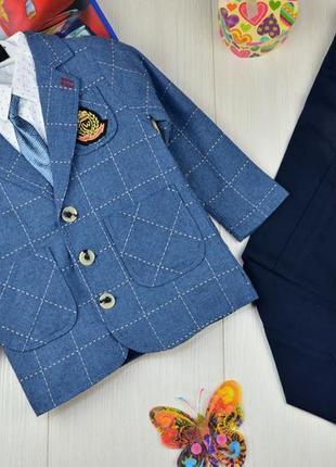 Костюм 3-ка (пиджак,брюки,рубашка,галстук+ремень)