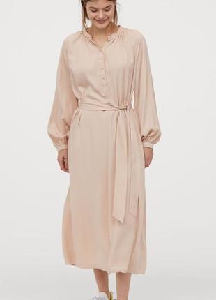 Шикарное нежное платье миди-макси новое! h&m вискоза  размер s m