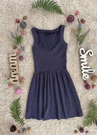 Милое летнее платье в полоску №375