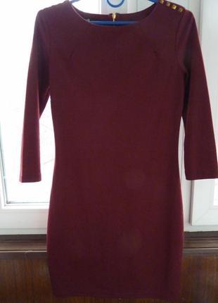 Бордовое платье от oodji