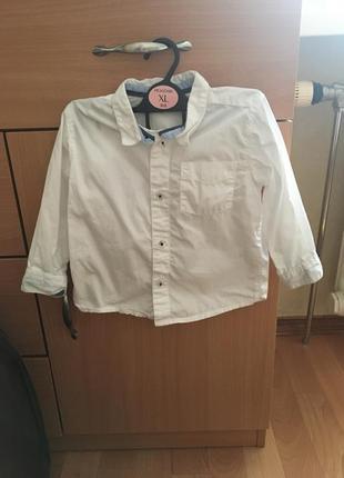 Новая белая рубашка,размер 80,9-12 месяцев