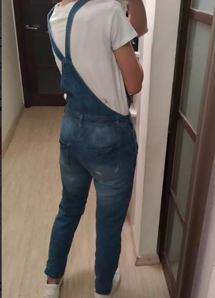 Джинсы джинсовый комбинезон 42-44-46