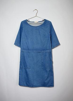 Джинсове плаття з кишенями