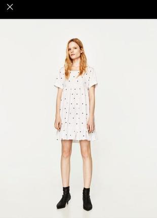 Воздушное хлопковое платье zara