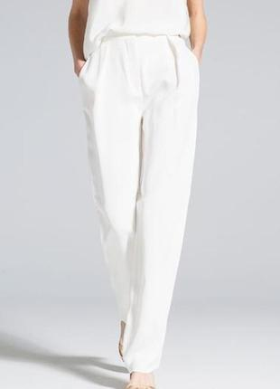 Белые брюки с высокой талией uterque
