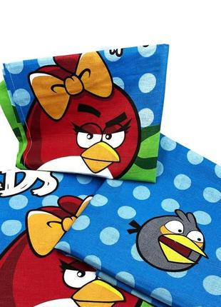 Детское постельное белье в кроватку бязь angry birds