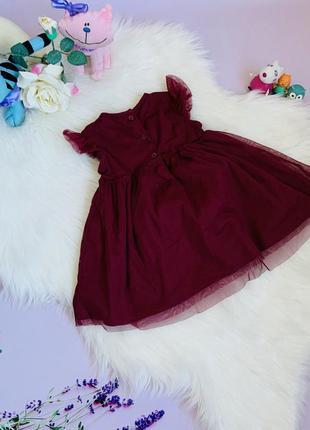 Нарядное платье f&f девочке 9-12 месяцев