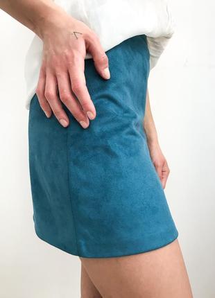 Велюрова міні юбка