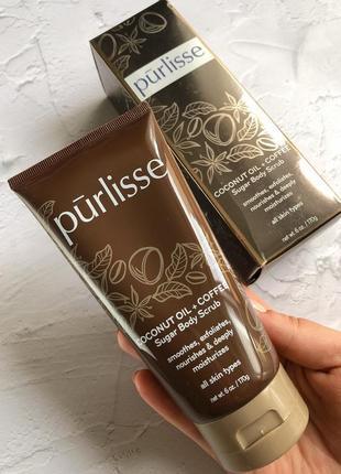 Sale -68% 🔥 purlisse - скраб для тела с кофе и кокосовым маслом