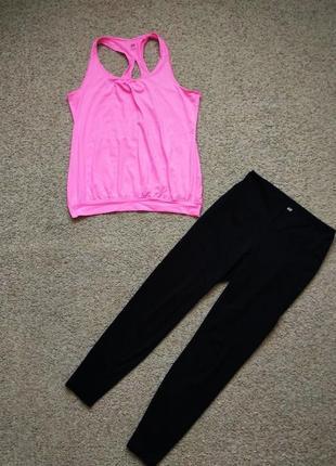 Набор для фитнеса , йоги h&m майка и лосины размер м