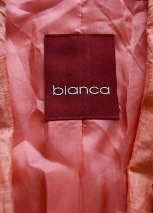 Лен костюм тройка, льняной костюм: юбка блузка пиджак с вышивкой и пайетками