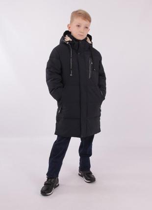 Зимнее пальто куртка для мальчика пурос поро 140 purosporo