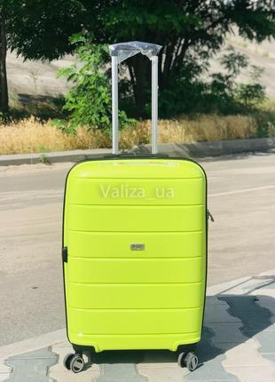 Качество! прочный большой пластиковый чемодан из полипропилена франция / валіза