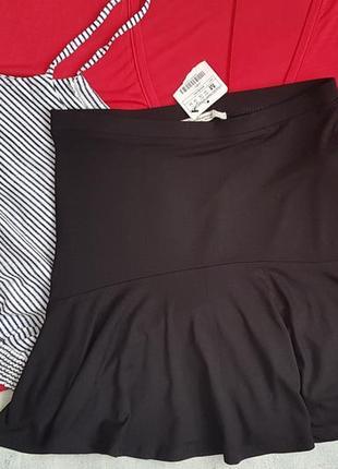 Летняя трикотажная мини юбка stradivarius