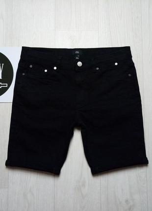 Черные джинсовые шорты river island, размер 32