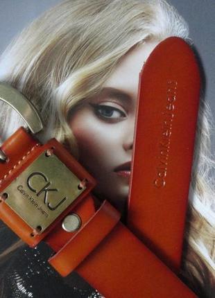 Женский кожаный ремень calvin klein рыжий